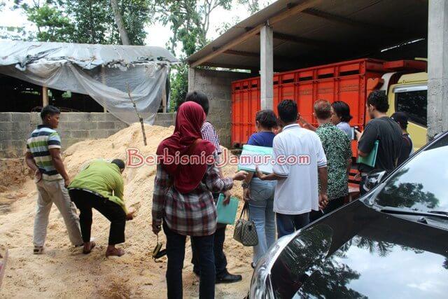 Peserta Mengamati Serbuk Kayu Untuk Media Tanam Jamur