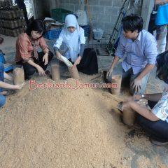 Pembuatan Baglog Jamur